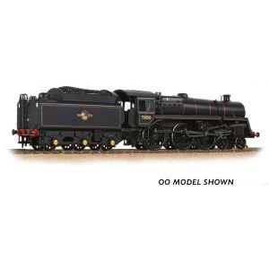 372-729 Graham Farish N Gauge BR Standard 5MT with BR1 Tender 73050 BR Lined Black (Late Crest) - Weathered