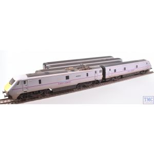 Hornby OO Gauge EAST COAST Train Pack Class 91+Coaches+DVT (DCC Fitted) Weathered by TMC (Pre-owned)
