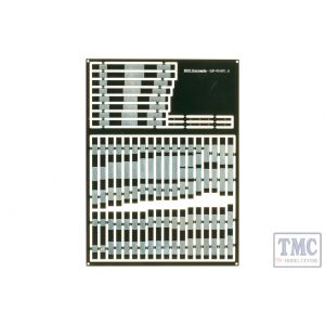 ESP-POINT1.0 DCC Concepts Pre-Etched Sleepers 1.0mm (4mm scale) B9 to A5 Points