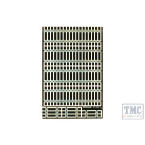 ESP-TRACK1.0 DCC Concepts Pre-Etched Sleepers 1.0mm (4mm scale) Straight Track