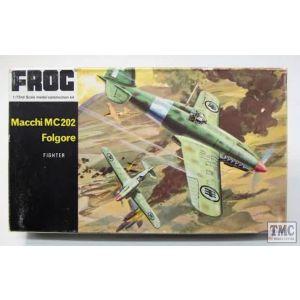 FROG Macchi MC.202 Folgore Fighter No F158 1968 1:72 (Pre-owned)
