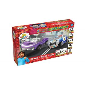 G1160M Scalextric Micro Scalextric Ryans World Street Chase Battery Powered Race Set