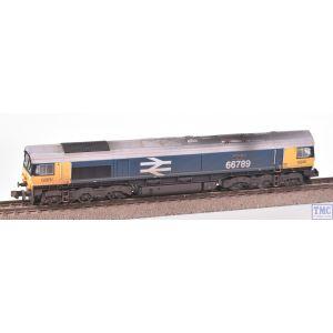 GM2210101 Gaugemaster N Gauge GBRf Class 66789 'British Rail 1948-1997' Large Logo Blue