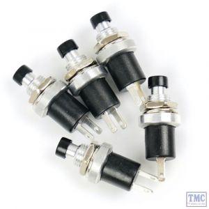 GM512 Gaugemaster Push to Break Switch Pack - Black (5)