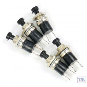 GM513 Gaugemaster Push to Make Switch - Black (Pack of 5)
