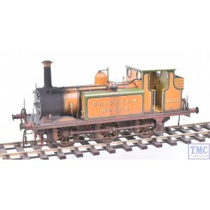 GM7210102 Gaugemaster O Gauge Terrier Brighton Works 32635 (DCC Sound Fitted) with Real Coal & Deluxe Weathering by TMC