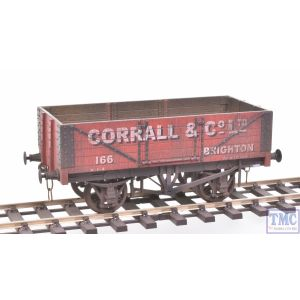 GM7410101 Gaugemaster (Dapol) O Gauge 5 Plank Wagon Corrall & Co Ltd 166 Brighton with Deluxe Weathering by TMC