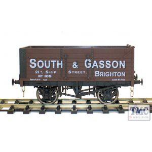 GM7410201 Gaugemaster O Gauge 7 Plank Wagon South & Gasson 105 Brighton