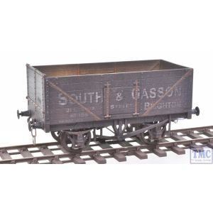 GM7410201 Gaugemaster (Dapol) O Gauge 7 Plank Wagon South & Gasson 105 Brighton with Deluxe Weathering by TMC