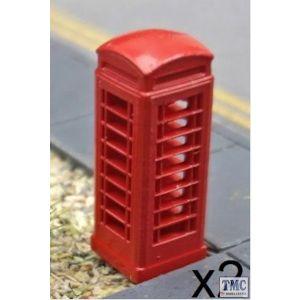 GMKD77 Kestrel N Gauge KD77 Telephone Boxes 2pcs