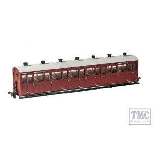 GR-440U Peco OO9 Gauge All Third Coach Unlettered Indian Red