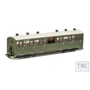 GR-451U Peco OO9 Gauge Observation Coach Unlettered Green