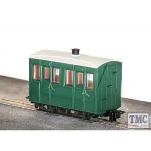 GR-500UG Peco OO9 Gauge Glyn Valley Tramway 4 Wheel Enclosed Side Coach Green