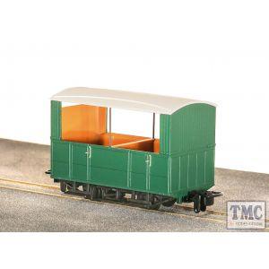 GR-520UG Peco OO9 Gauge Glyn Valley Tramway 4 Wheel Open Side Coach Green