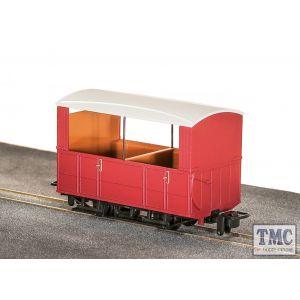 GR-520UR Peco OO9 Gauge Glyn Valley Tramway 4 Wheel Open Side Coach Red