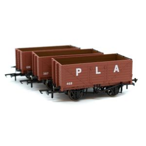 GV6015 Golden Valley Hobbies Port Of London 7 Plank Open Wagon (3 Pack)