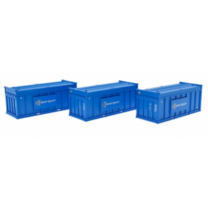 N-ACC-GYPSUM-B Revolution Trains N Gauge PFA British Gypsum containers Blue Triple Pack