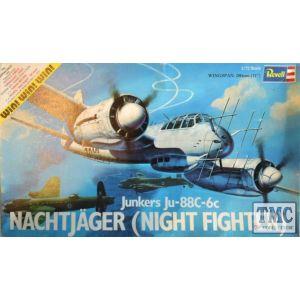 Revell 1:72 Junkers Ju-88C-6c Nachtjäger (Night Fighter) Kit No H-165 (Pre owned)