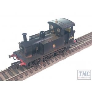 H4-P-016 Hattons Originals OO Gauge SECR P Class 0-6-0T 31556 in BR black with Early Emblem