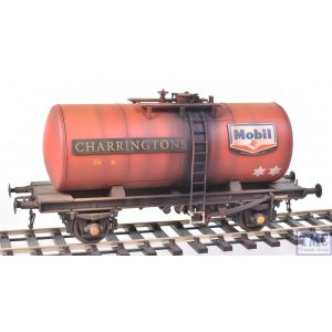 1004 Heljan O Gauge B Tank Mobil Charringtons red