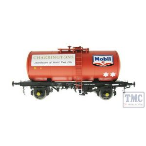 1005 Heljan O Gauge B Tank Mobil Charringtons fuel oils red