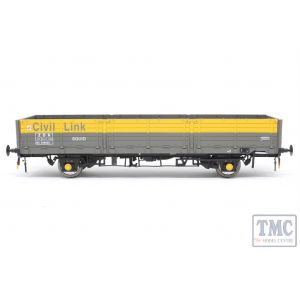 1054 Heljan O Gauge OAA OAA open Civil Link Departmental ZDA grey/yellow