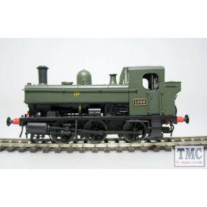 1320 Heljan OO Gauge Class 1366 0-6-0PT no.1366 GWR Green (Shirtbutton)