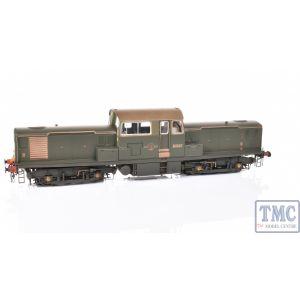 1753 Heljan O Gauge Class 17 BR green D8607 SYP WEATHERED