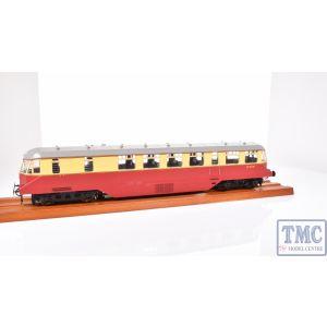 1902 Heljan O Gauge AEC 'Razor Edge' Railcar GWR BR crimson/cream (white cab roof)