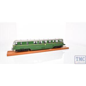 1905 Heljan O Gauge AEC 'Razor Edge' Railcar GWR BR green with speed whiskers (dark grey roof)