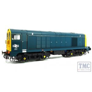 2012 Heljan O Gauge Class 20 BR blue with full yellow ends; pre-TOPS style with double arrows on the cabsides and 4-character headcodes pre-fitted