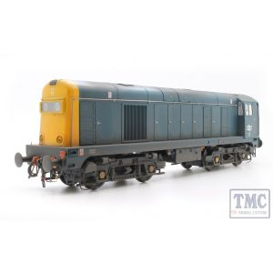 2014 Heljan O Gauge Class 20 BR blue with full yellow ends; TOPS style with double arrows on the cabsides and '0000' headcodes pre-fitted - WEATHERED
