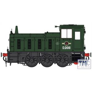 2051 Heljan O Gauge  Class 03 D2011 BR green Conical exhaust