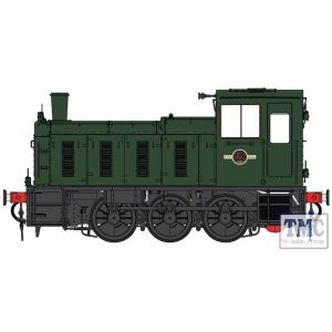 2052 Heljan O Gauge  Class 03 un-numbered BR green Flowerpot exhaust