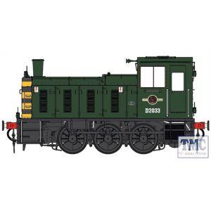2055 Heljan O Gauge  Class 03 D2033 BR green / wasps Flowerpot exhaust