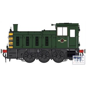 2057 Heljan O Gauge  Class 03 un-numbered BR green / wasps Flowerpot exhaust