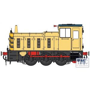 2058 Heljan O Gauge  Class 03 un-numbered Industrial blue/yellow Conical exhaust