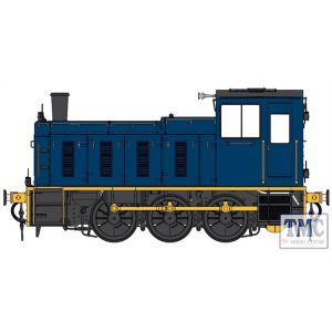 2059 Heljan O Gauge  Class 03 Industrial blue - Flowerpot exhaust