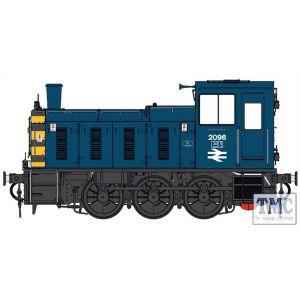 2070 Heljan O Gauge  Class 03 2096 BR blue / wasps Flowerpot exhaust