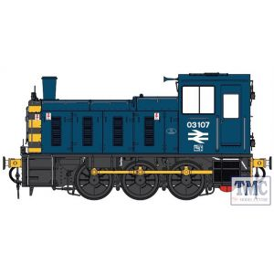 2071 Heljan O Gauge  Class 03 03107 BR blue / wasps Flowerpot exhaust
