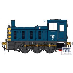 2072 Heljan O Gauge  Class 03 un-numbered BR blue / wasps Flowerpot exhaust