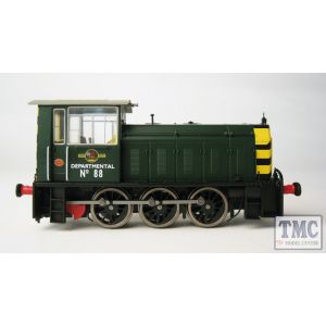 2523 Heljan OO Gauge Class 05 Shunter DEPARTMENTAL No.88 in BR green with wasp stripes