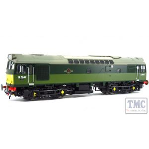 HEL2530 Heljan OO Gauge Class 25/3 BR two-tone green D7645 with small yellow panels