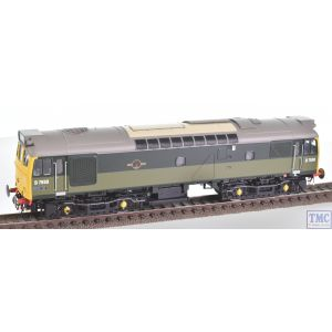 HEL2532 Heljan OO Gauge Class 25/3 BR two-tone green D7550 with full yellow ends and BR blue data panel