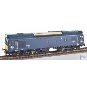 HEL2533 Heljan OO Gauge Class 25/3 BR early blue D7661 with small yellow panels