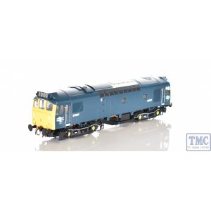 HEL2534 Heljan OO Gauge Class 25/3 BR rail blue D7667 with full yellow ends (twin double arrows _ 1,000th loco built at Derby Wo
