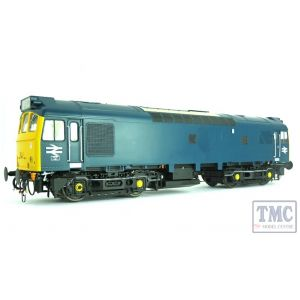 2557 Heljan O Gauge Class 25/3 BR blue with full yellow ends; pre-TOPS with double arrows under the cabs