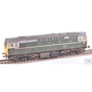 2730 Heljan OO Gauge Class 27 27001 BR green with fully yellow ends (V3)(heavily weathered)