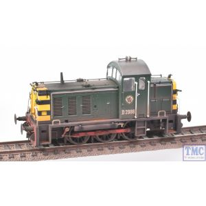 2904 Heljan OO Gauge Class 07 Shunter D2986 BR Green Weathered by TMC