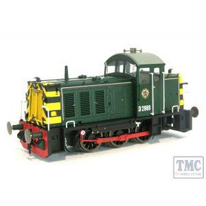 2905 Heljan OO Gauge Class 07 Shunter D2988 BR Green